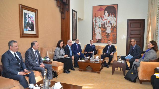 El Othmani recevant des chefs de groupes parlementaires ce mardi