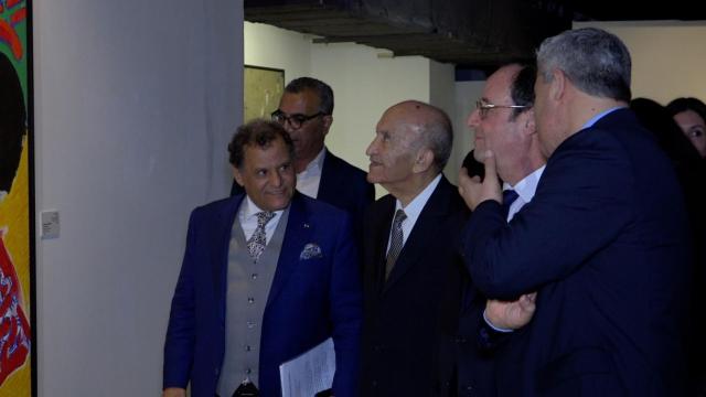 François Hollande au Musée Mohammed VI-1