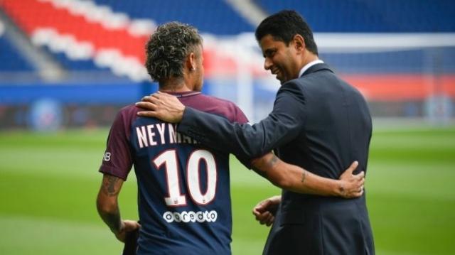 Neymar et Khelaïfi