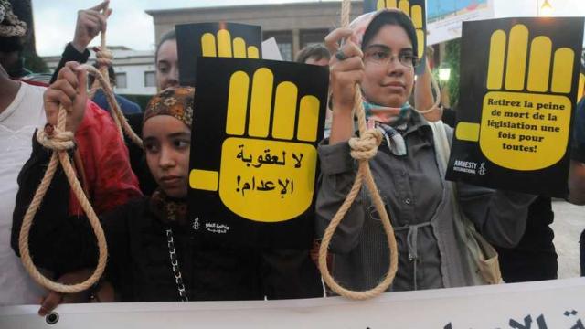 manifestation anti-peine de mort à rabat