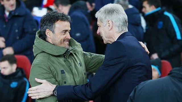 Wenger et Luis Enrique