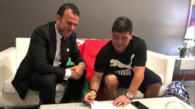 Maradona président de club biélorusse