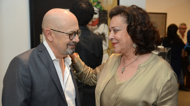 Denis Jermain et Aicha Amor