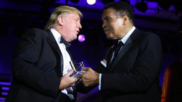 Donald Trump et Mohamed Ali
