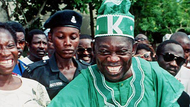 Moshood Abiola, l'opposant qui vient d'être réhabilité par Muhammadu Buhari, 25 ans après les élections de 1993.
