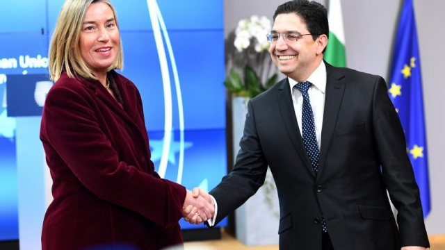 Nasser Bourita et Federica Mogherini.