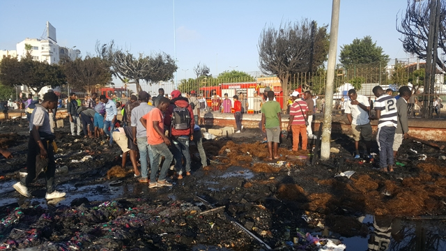 Campement de migrants Casablanca