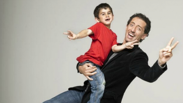 Gad Elmaleh et son fils Raphaël