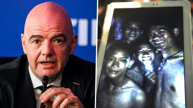 Infantino et rescapés thaïs