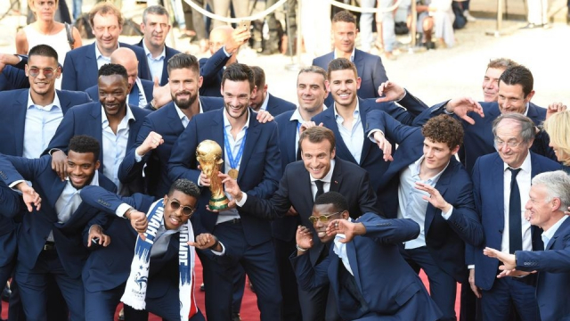 Macron et les champions du Monde