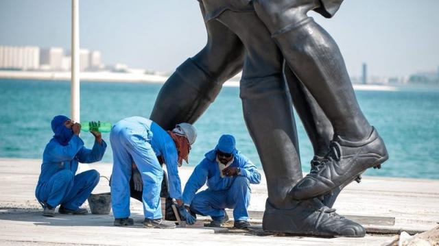 Ouvriers à Doha