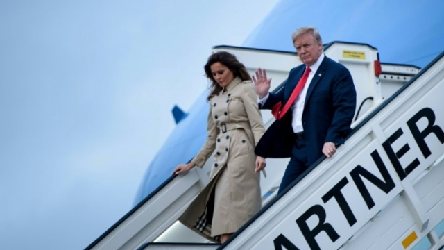 Trump arrive à Bruxelles