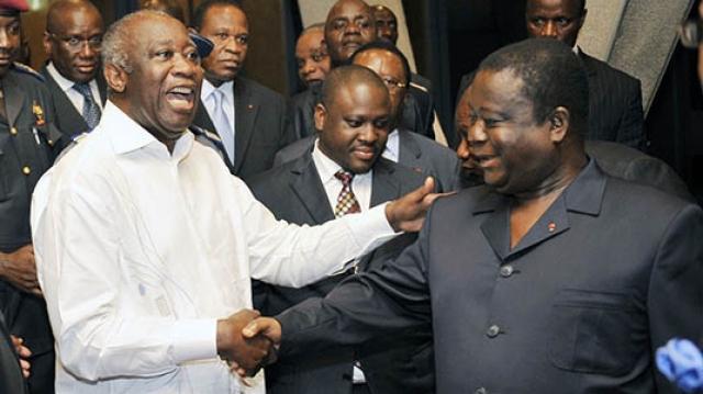 Gbagbo et Bédié