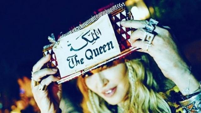 Madonna reine berbère