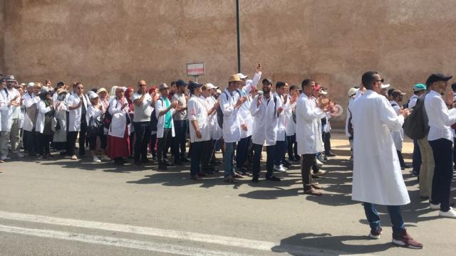 Rabat-Marche des enseignants contractuels-1