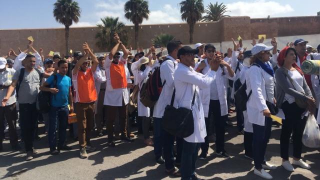 Rabat-Marche des enseignants contractuels-8
