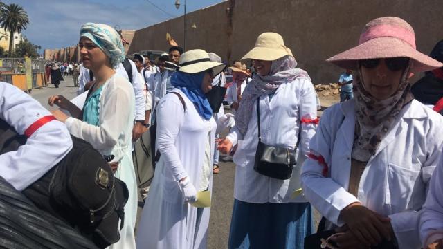 Rabat-Marche des enseignants contractuels-9