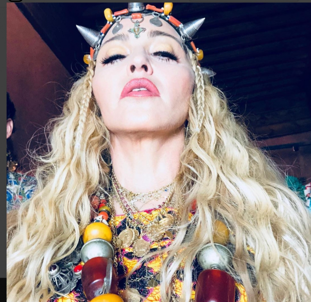 Madonna en mode amazigh Marrakech