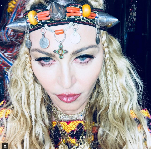 Madonna en mode amazigh Marrakech-2