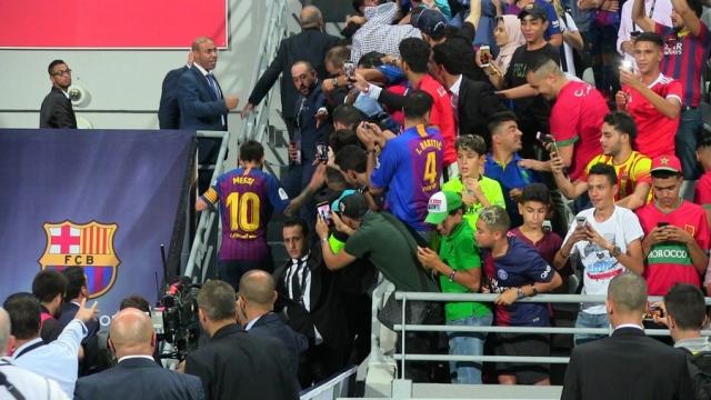 Messi au stade de Tanger