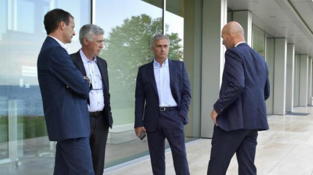 Zidane Ancelotti Mourinho Allegri