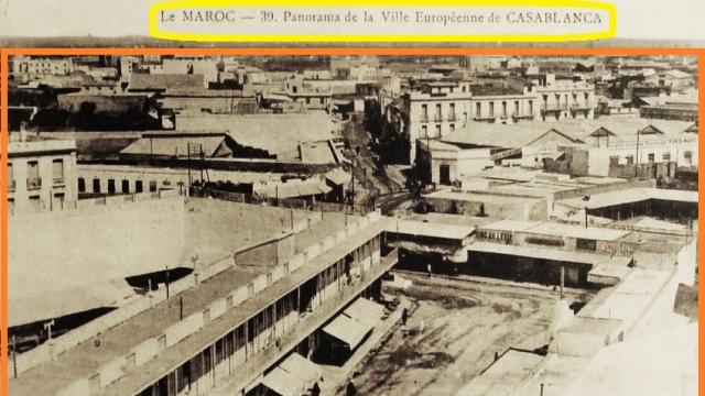 panorama de la ville européenne de Casablanca