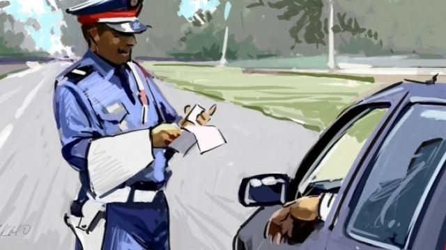 Agent de la circulation dessin