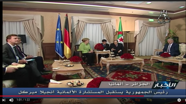 Vidéo. Algérie: les images de la rencontre furtive entre Merkel et Bouteflika