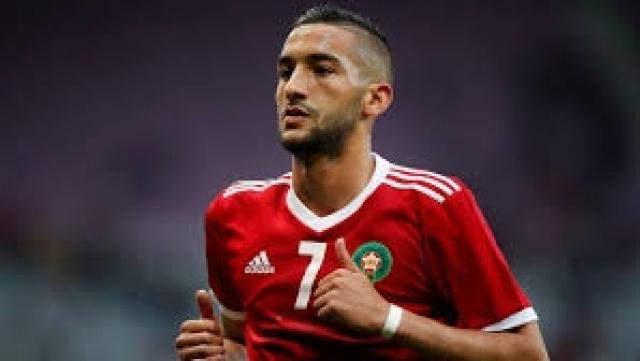Ziyech avec le Maroc