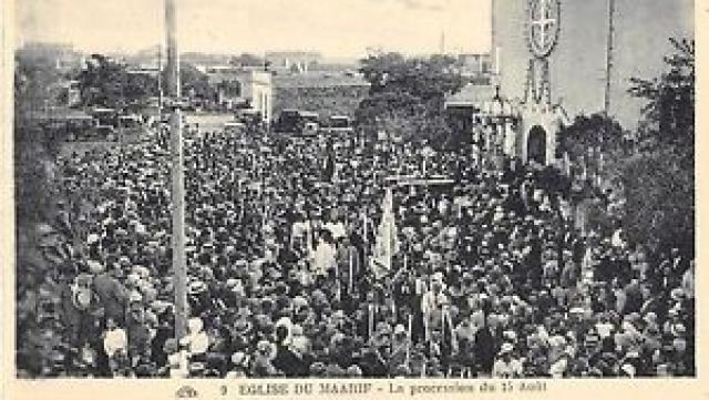 l'église du Maârif - La procession du 15 août