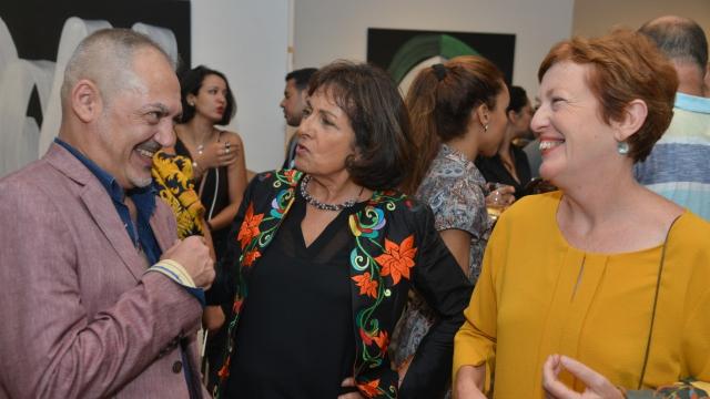 Jamal Boushaba, Najia Mehadji et Nathalie Gallissot