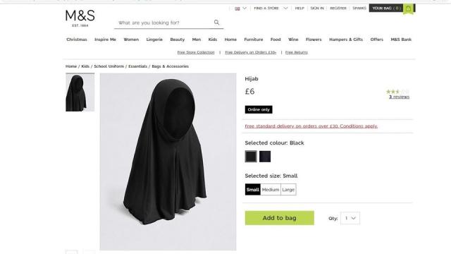 Polémique autour de la vente de hijab pour enfants par la marque ... 50babdaf773f