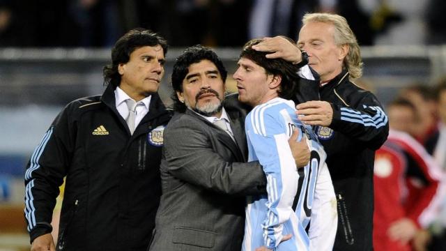 Maradona et messi