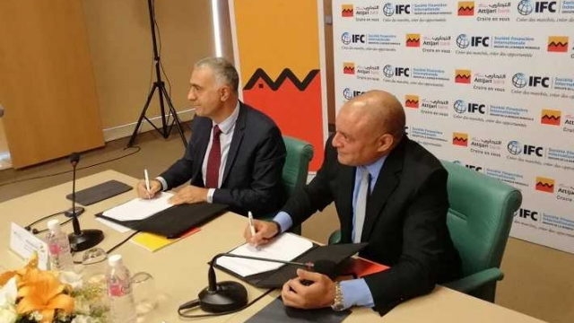 """Hicham Seffa, Attijari Bank, et Kudret Akgun, responsable d'IFC zone MENA"