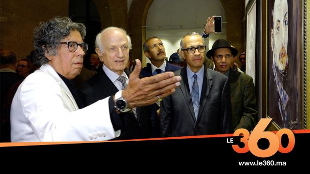 cover Video -Le360.ma •الموسيقار عبد الوهاب الدكالي يعرض لأول مرة لوحاته التشكيلية برواق باب الرواح بالرباط