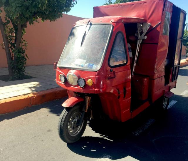 Marrakech-Promenade en triporteur