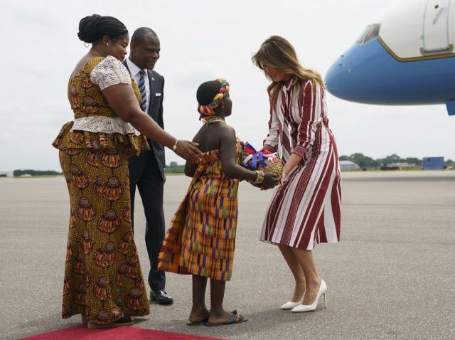 Melania Trump au ghana 1