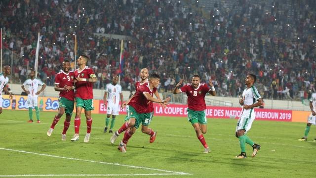 Maroc - Comores joie but Fajr