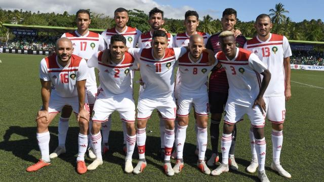 Onze du Maroc face aux Comores le 16 octobre 2018