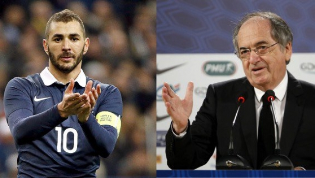 Karim Benzema et Noël Le Graet