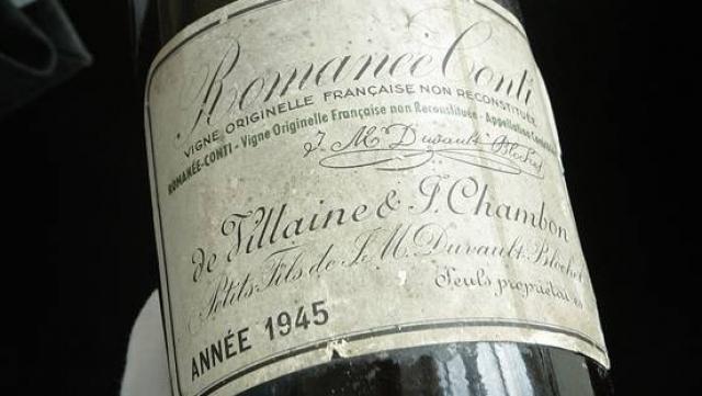 Une bouteille de Romanée-Conti datant de 1945