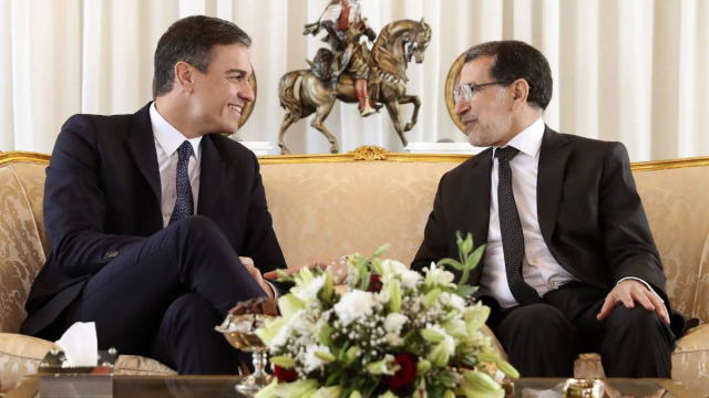 Le président du gouvernement espagnol Pedro Sánchez et le chef du gouvernement marocain Saâd Dine El Otmani