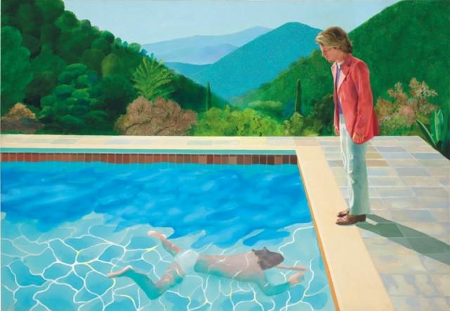 Portrait of an artist (Pool with Two Figures) de David Hockney
