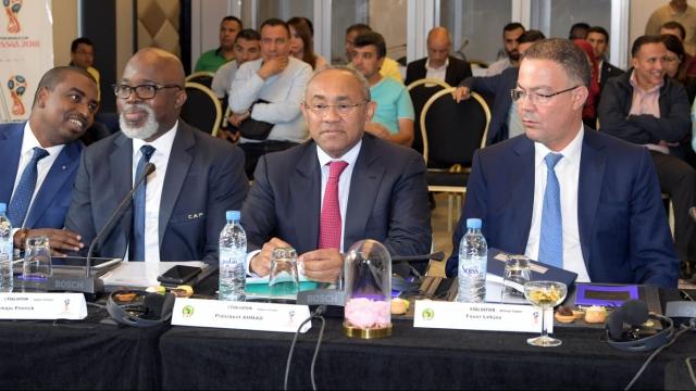 Ahmad Ahmad et Fouzi Lekjaa CAF