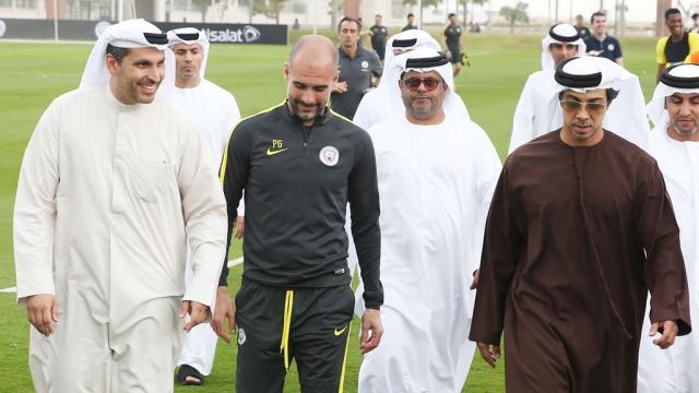 Mansour Ben Zayed et Guardiola