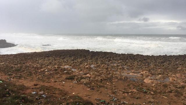 La mer déchaînée sur le littoral de Rabat7