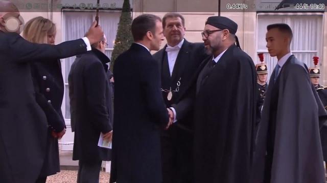Mohammed VI à l'Elysée-10