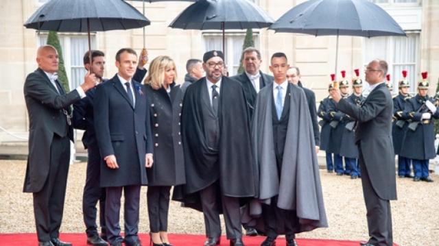 Mohammed VI et Moulay El Hassan à l'Elysée