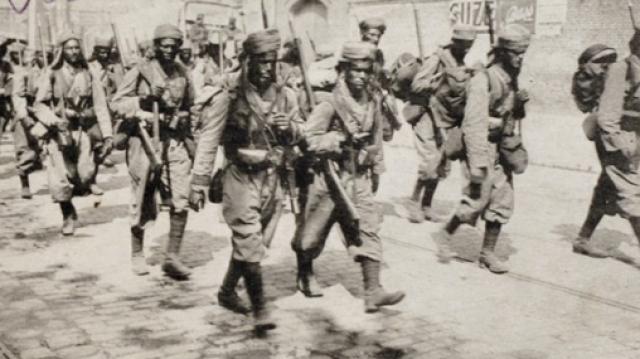 soldats marocains durant la 1ère Guerre mondiale