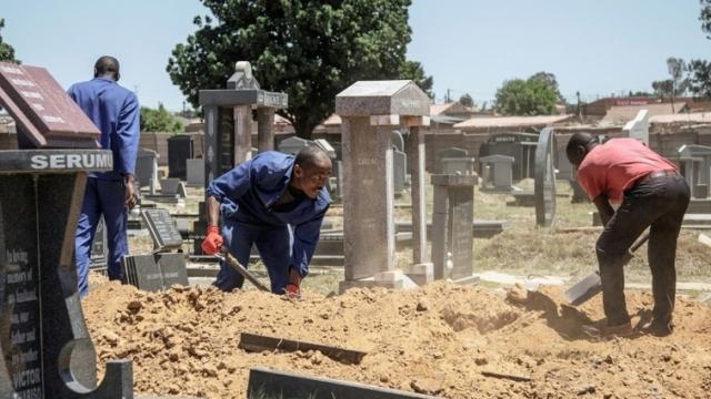 Afrique du sud: plus de place dans les cimetières
